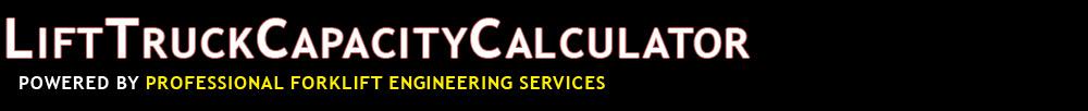 Lift Truck Capacity Calculator